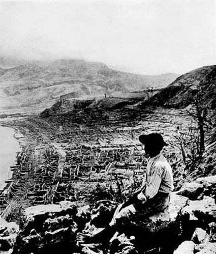 Mount Pelee after disaster