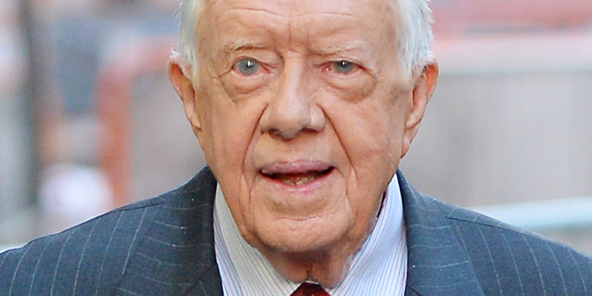 NEW YORK NY - NOVEMBER 05: Former President Jimmy Carter sighting on November 5, 2013 in New York City.  (Photo by Josiah Kamau/BuzzFoto/FilmMagic)