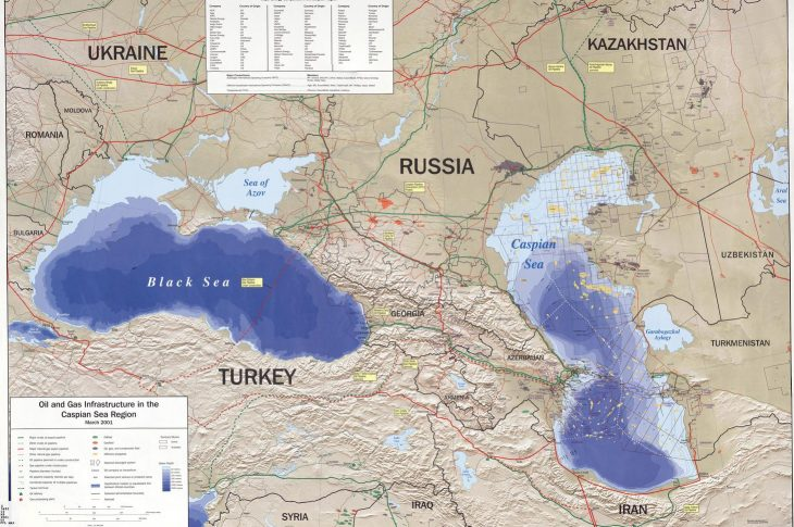 caspian sea map